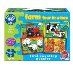 set-4-puzzle-la-ferma-4-6-8-sau-12-piese-farm-four-in-a-box-orchard-toys-01