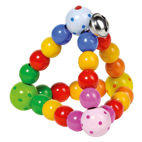 Inele tactile multicolore, forma de piramida, marca Goki