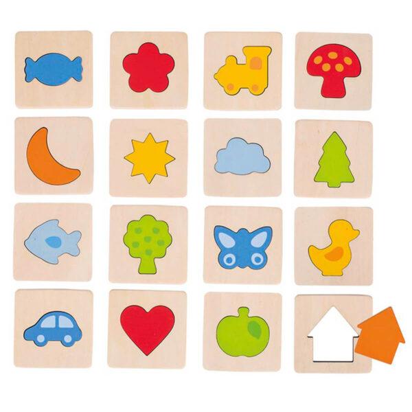 Joc de memorie pentru copii - Gaseste formele - Goki