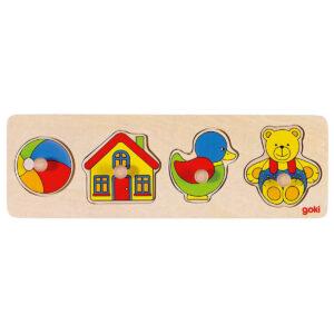 Puzzle din lemn - Lift-Out - 30 x 10 x 2.4 cm - Goki