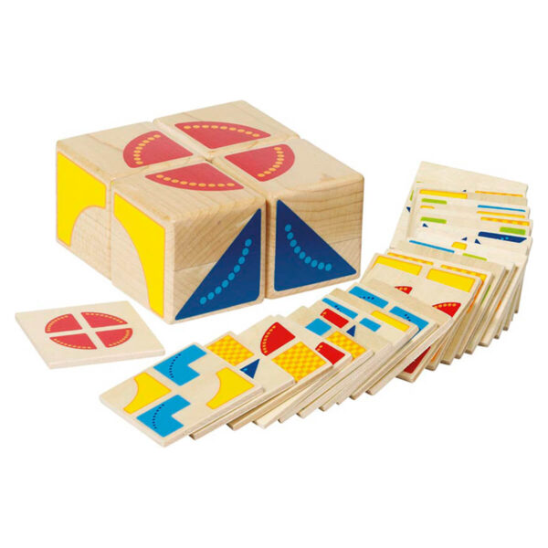Puzzle din lemn - Kubus - Goki