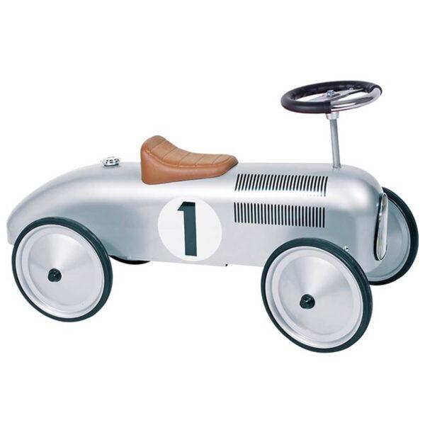Masinuta de curse argintie - Ride-on - 76 x 39 x 39 cm - Goki
