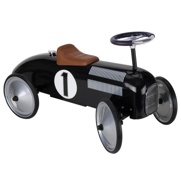 Masinuta de curse neagra - Ride-on - 73.5 x 35 x 40 cm - Goki