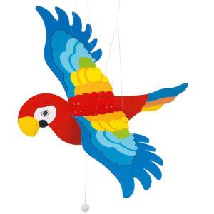 Decoratiune din lemn - Papagalul zburator - Goki