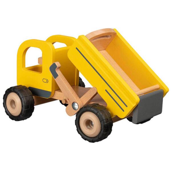 Camion de gunoi - Jucarie din lemn - 25 x 17 x 14.5 cm - Goki