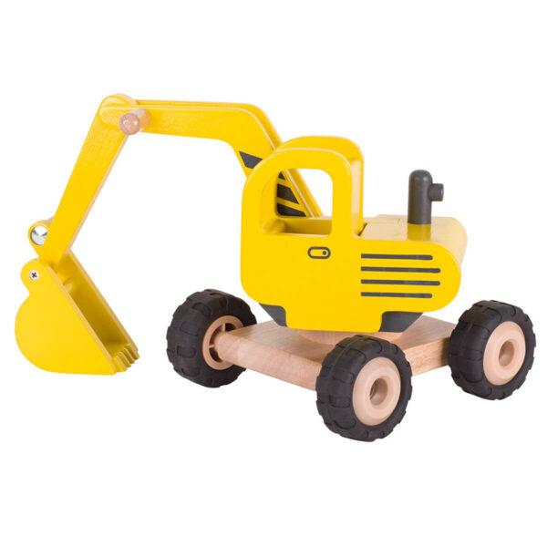 Excavator - Jucarie din lemn - 20 x 18 x 26 cm - Goki