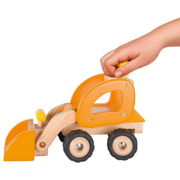 Incarcator pe roti - Jucarie din lemn - 31.5 x 14.5 x 21 cm - Goki