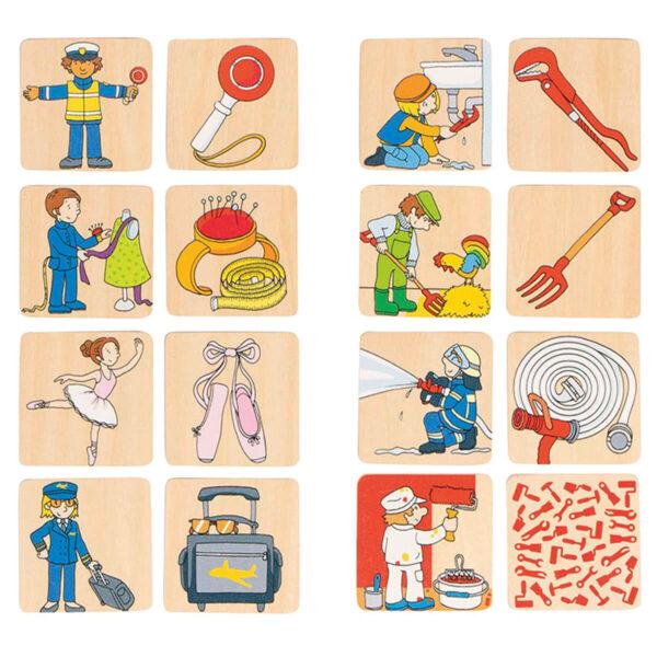 Joc de memorie - Ocupatii - 5 x 5 cm - Goki
