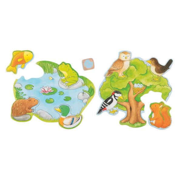 Joc de gandire - Puzzle - Cine locuiește unde? - Goki