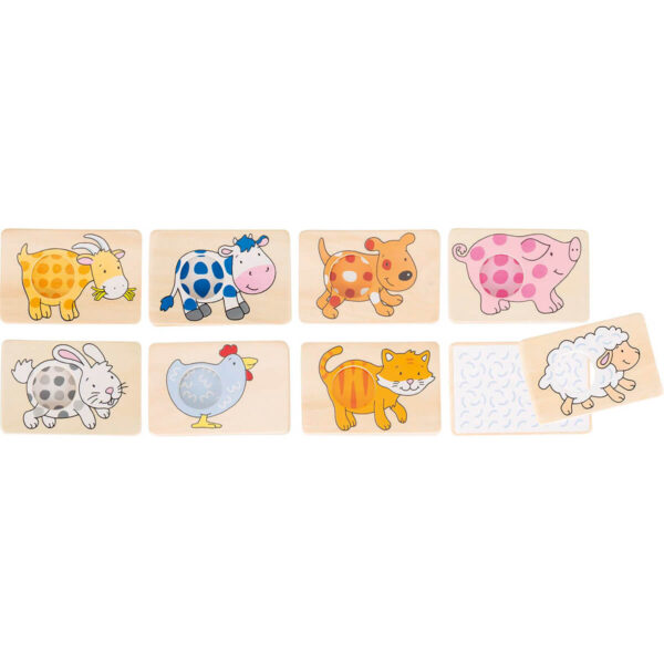 Joc de memorie - Forme cu animale - 7.5 x 5 cm - Goki