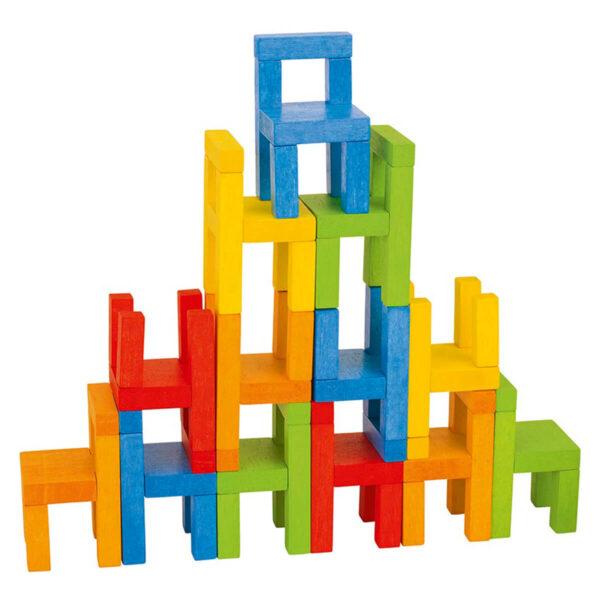 Joc din lemn - Echilibrare scaune - Goki