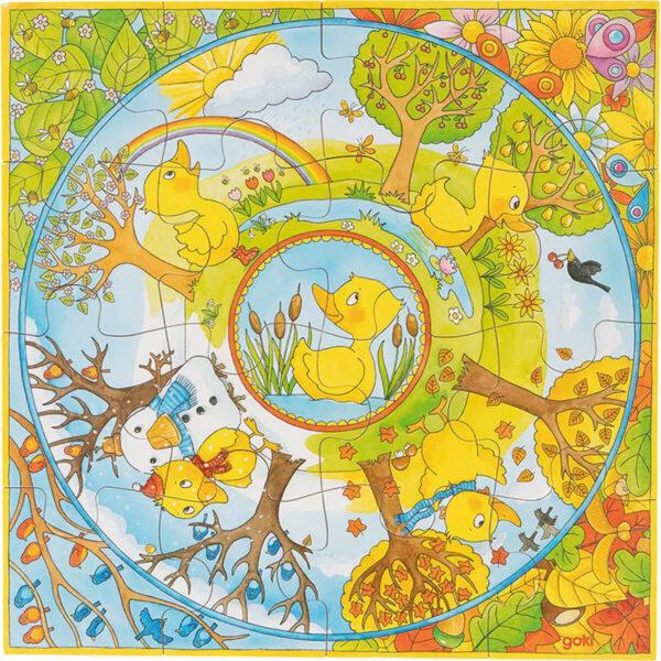 Joc de gandire - Puzzle XL - Un an din viata ratustei - Goki