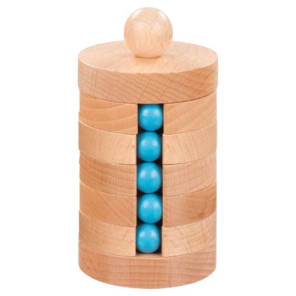Jucarie din lemn - Turnul cu bile - 13.5 cm - Goki