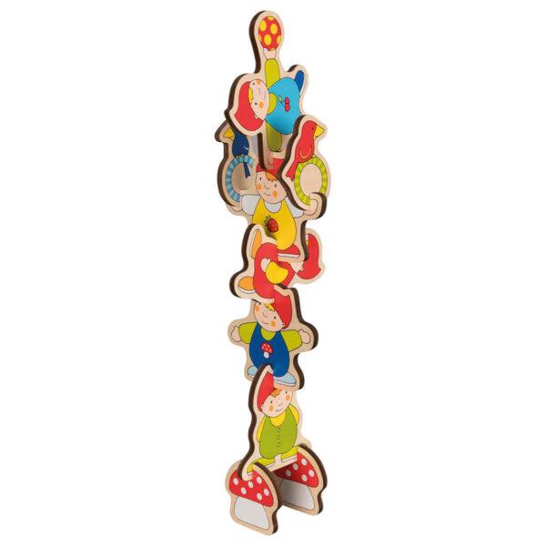 Joc puzzle din lemn - Lift-Out - Piticii - 29.8 x 20.8 cm - Goki