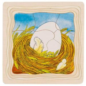 Joc de gandire - Puzzle stratificat - Puisor - 20 x 20 x 1.5 cm - Goki