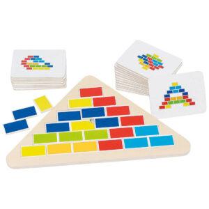 puzzle din lemn triunghi cu segmente goki