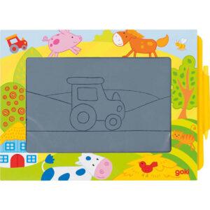 Tabla magica pentru desen nelimitat - 26 x 19 cm - Goki