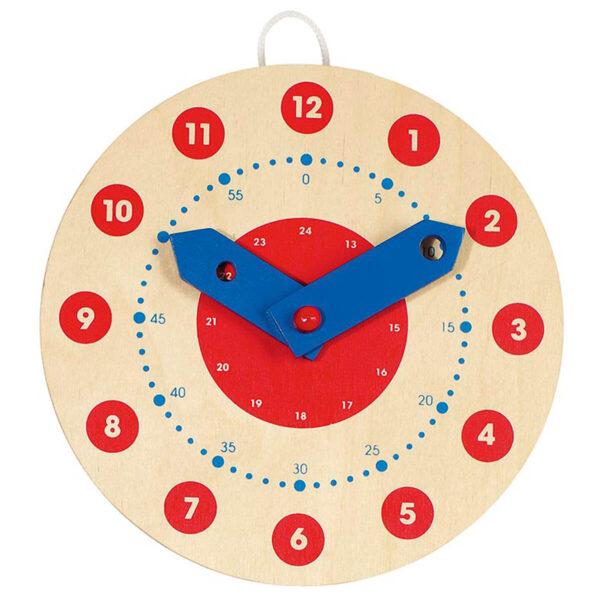 Joc educativ din lemn - Invata sa citesti ceasul - Goki