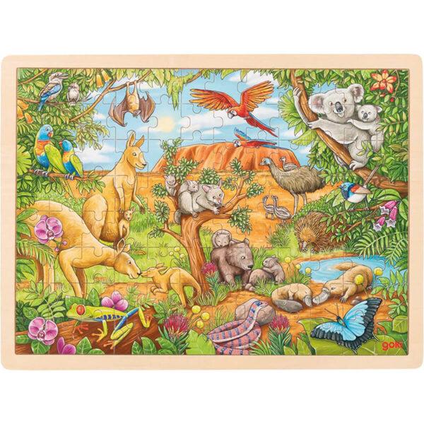 Joc de gandire - Puzzle - Animale din Australia - Goki