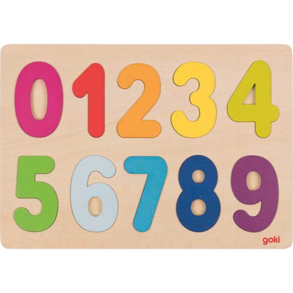 Joc de gandire - Puzzle - Numere 0-9 - Goki