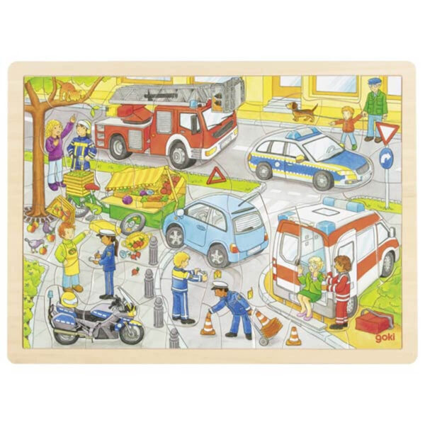 Joc de gandire - Puzzle - Politia - Goki