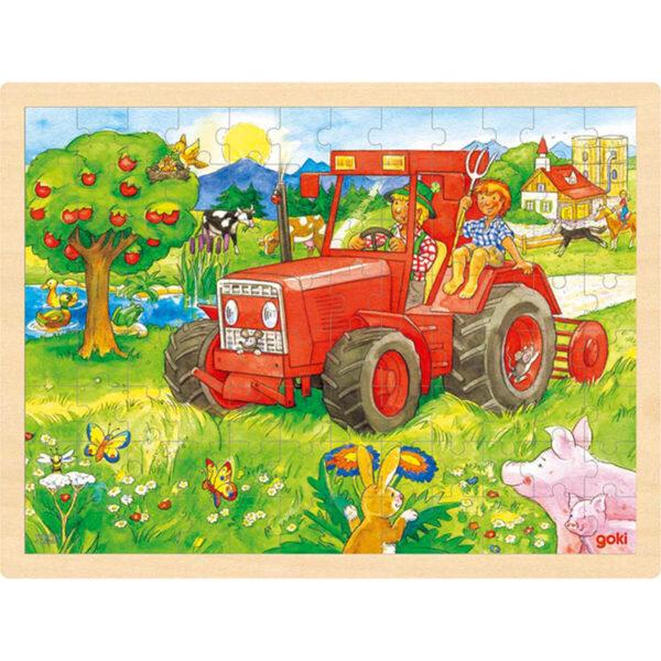 Joc de gandire - Puzzle - Tractor - Goki