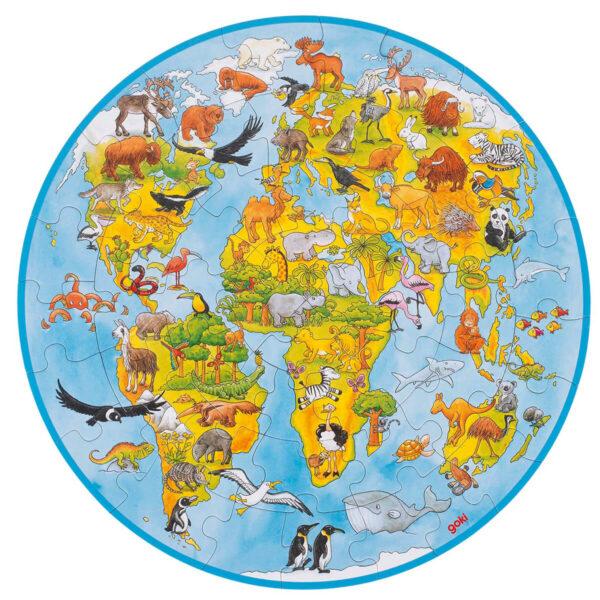 Joc de gandire - Puzzle - World XXL - rotund - Goki