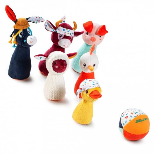 Jucarii soft - Joc de bowling - Ferma animalelor - Lilliputiens