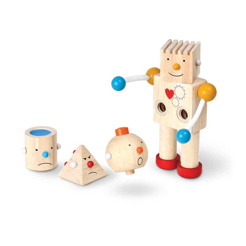 Jucarie din lemn - Construieste un robot - PlanToys