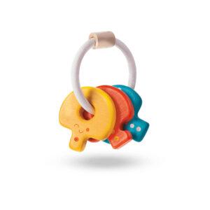 Jucarie din lemn zornaitoare - Baby key rattle - Plan Toys