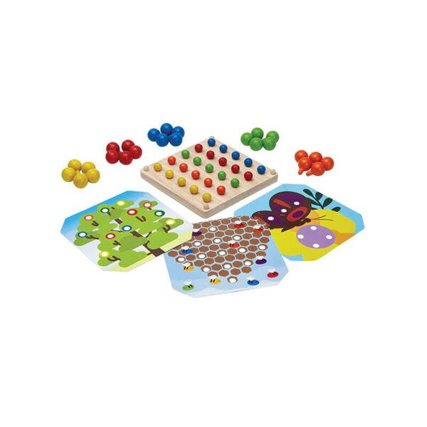 Jucarie din lemn de invatare - Creative peg board - Plan Toys