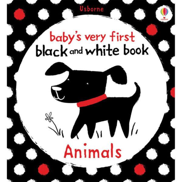 carte copii black and white animals usborne