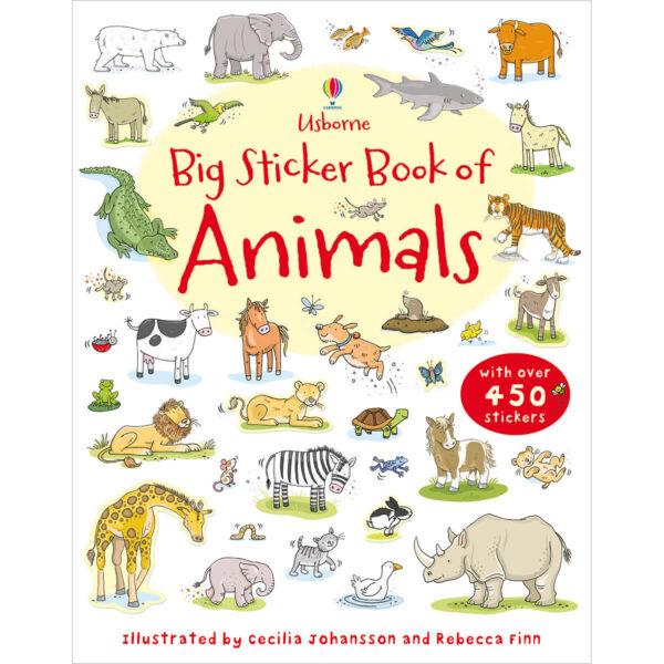 Carte pentru copii - Big Sticker Book of Animals - Usborne