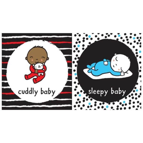 Carte pentru copii cu pagini cartonate - Baby's Very First Black and White Book Babies - Usborne