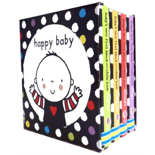 set mini carti copii Baby's Very First Black and White Little Library - Usborne