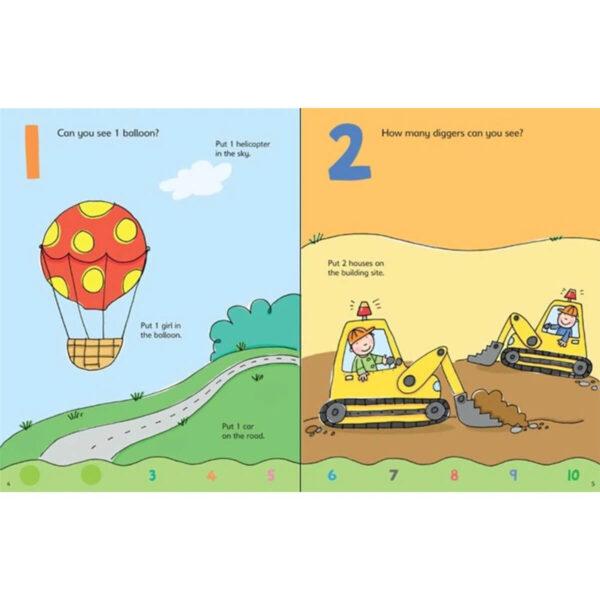 Carte pentru copii - 123 Sticker and Colouring book - Usborne