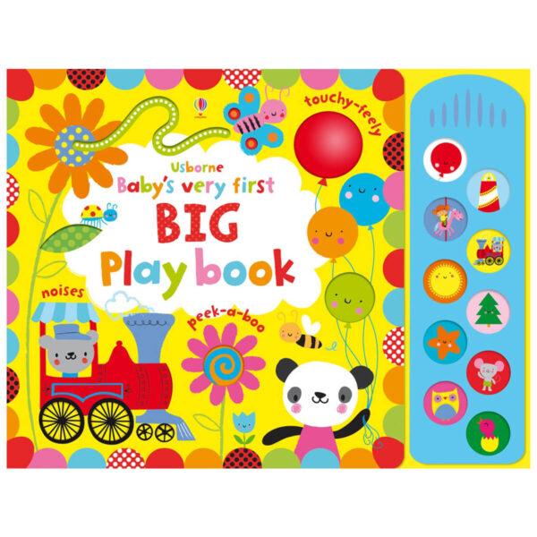 Carte pentru copii cu pagini cartonate si sunete - Baby's Very First Big Playbook - Usborne