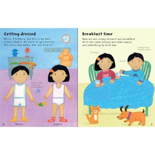 Carte pentru copii - Getting Dressed Sticker Book My Day - Usborne