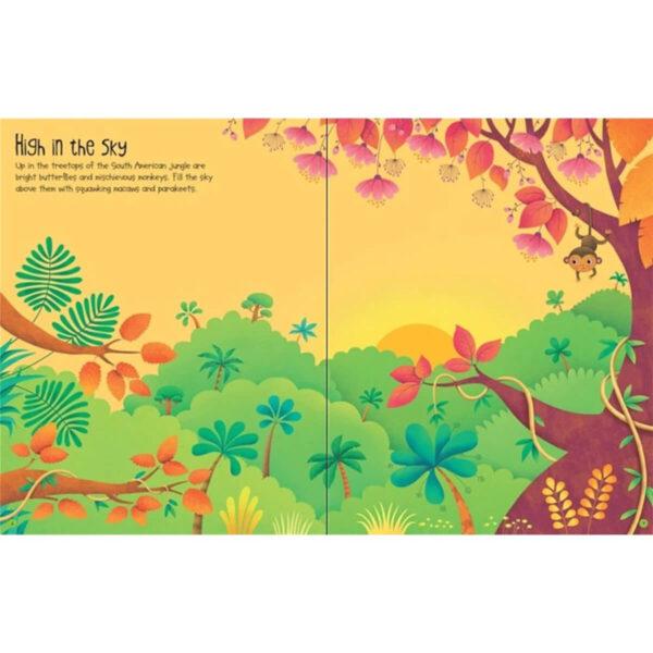 Carte pentru copii - First Sticker Book Jungle - Usborne