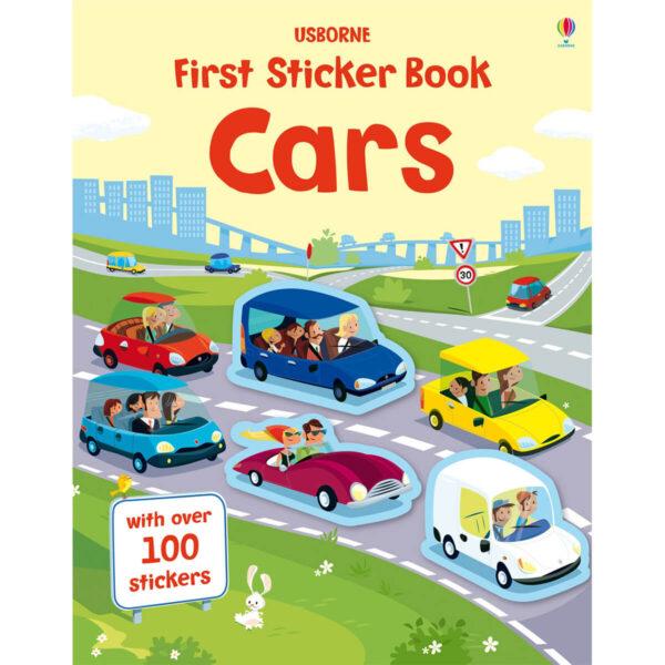 Carte pentru copii - First Sticker Book Cars - Usborne