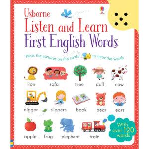 Carte cu sunete pentru copii - Listen and Learn First English Words - Usborne