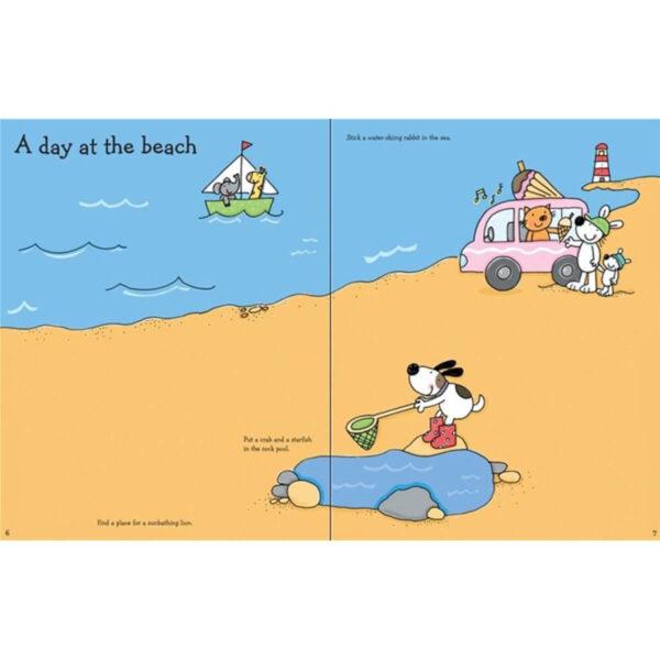 Carte pentru copii - Holiday Sticker and Colouring Book - Usborne