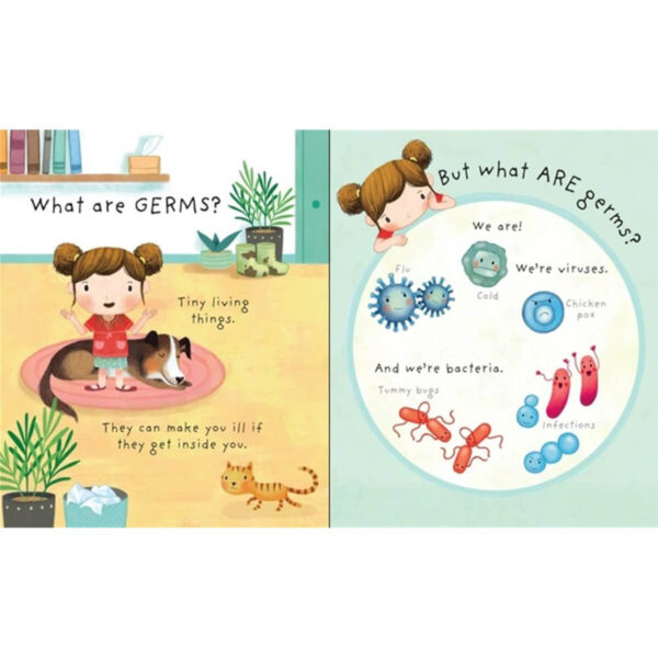 Carte pentru copii - Lift-the-flap Very First Questions and Answers What are Germs - Usborne