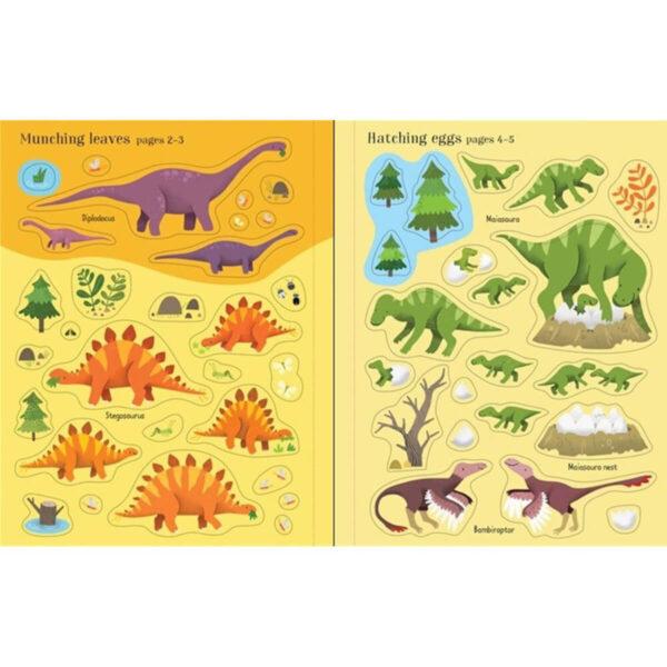 Carte pentru copii - First Sticker Book Dinosaurs - Usborne