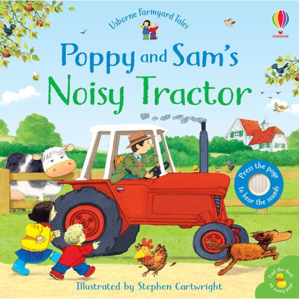 Carte cu sunete pentru copii - Poppy and Sam's Noisy Tractor - Usborne