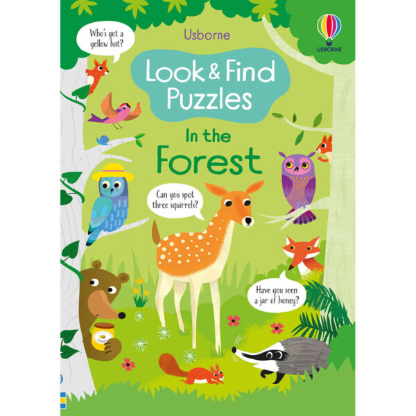 Carte pentru copii - Look and Find Puzzles In the Forest - Usborne