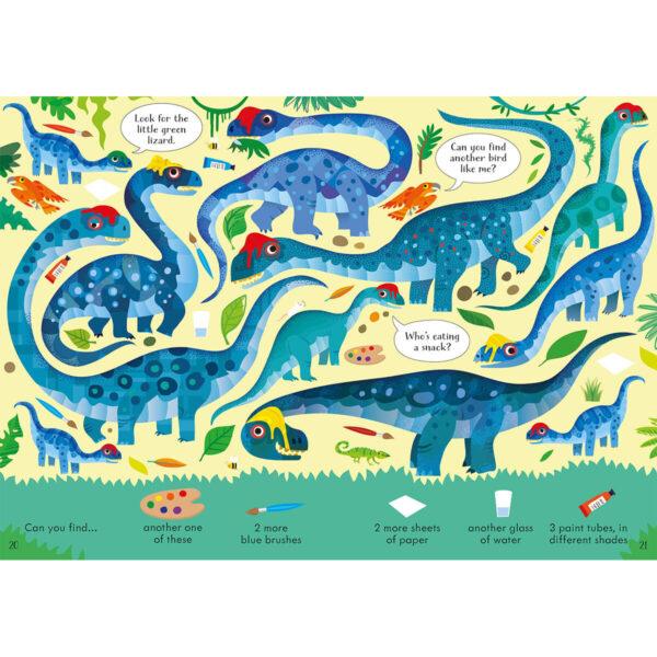 Carte pentru copii - Look and Find Puzzles Dinosaurs - Usborne