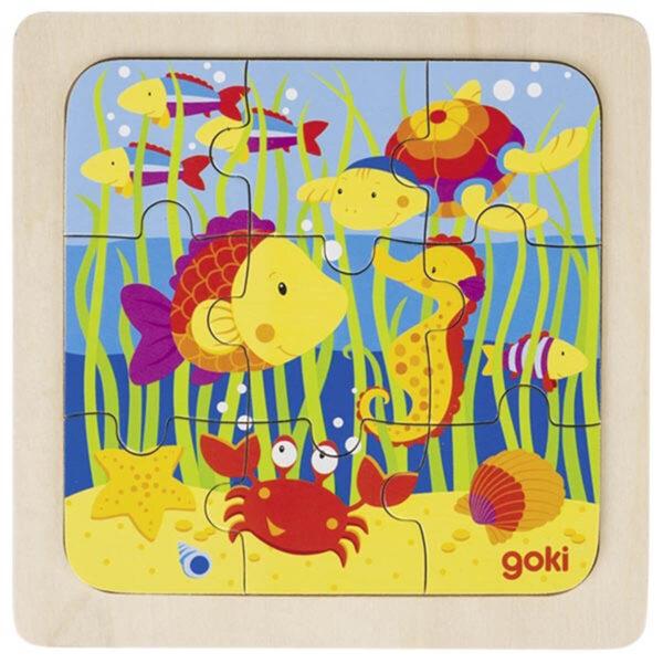 Joc de gandire - Puzzle - Ferma, jungla, sub apa, in oras - Goki