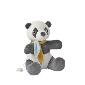 Jucarie muzicala din bumbac organic - Panda - KIKADU TRULY ORGANIC