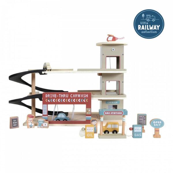 Parcare auto din lemn - Extensie Little Railway Collection - Little Dutch